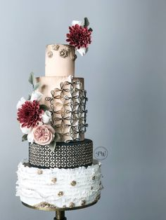 Luxury, fairytale, whimsical wedding cake with realistic buttercream exotic florals.  Enjoy RUSHWORLD boards, WEDDING CAKES WE DO, WEDDING GOWN HOUND and UNPREDICTABLE WOMEN HAUTE COUTURE. Follow RUSHWORLD! We're on the hunt for everything you'll love! #WeddingCakesWeDo #LuxuryWeddingCake #FairytaleWeddingCake