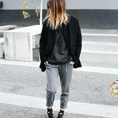 #winter #ootd #pantalon #gris #casual #fashion