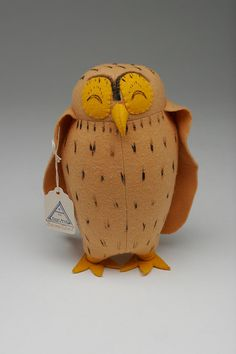 "Vintage Agnes Brush Winnie the Pooh ""Brown Owl"" Plush Toy"