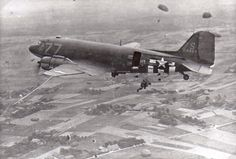 Great shot of C-47 in action, location unknown