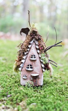 Fairy Willow House 3 1/2 inch tall fairy house by FairyWillow