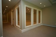 glassed in exercise room