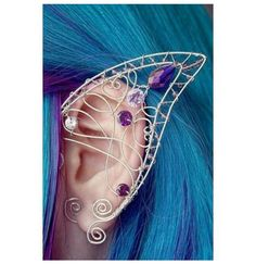DIY wire elf ears-use this as pattern to make