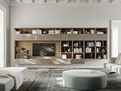 Search all products, brands and retailers of Storage walls: discover prices, catalogues and new features Floating Wall Unit, Tv Bookcase, Bibliotheque Design, Wall Storage Systems, Living Room Shelves, Tv Wall Shelves, Family Room Walls, Muebles Living, Interior Design Work