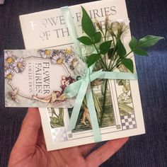 At Penguin Random House for #FlowerFairies licencing day. Lovely little book tied up with fresh flowers #floral #fairies #penguinbooks