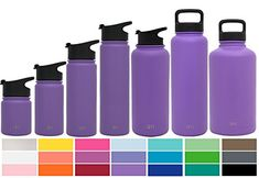 Simple Modern 40oz Summit Water Bottle + Extra Lid - Vacuum Insulated Stainless Steel Wide Mouth Hydro Travel Mug - Powder Coated Metal Flask - Lilac Purple. For product & price info go to:  https://all4hiking.com/products/simple-modern-40oz-summit-water-bottle-extra-lid-vacuum-insulated-stainless-steel-wide-mouth-hydro-travel-mug-powder-coated-metal-flask-lilac-purple/