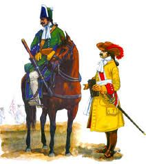 dragoon and officer
