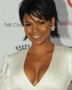 """Nia Long Photos - Nia Long attends The Cinema Society and Target screening of """"Good Hair"""" at the IFC Center on October 2009 in New York City. - Cinema Society & Target Host A Screening Of """"Good Hair"""" - Arrivals Pixie Bob Hairstyles, Short Black Hairstyles, Cool Hairstyles, Hairdos, Hairstyle Ideas, Long Pixie Cuts, Short Hair Cuts, Short Hair Styles, Nia Long"""