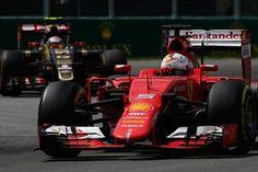 Sebastian Vettel of Germany and Ferrari drives during the Canadian Formula One Grand Prix at Circuit Gilles Villeneuve on June 7, 2015 in Montreal, Canada
