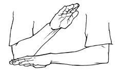 """""""afternoon"""" American Sign Language (ASL) To do the sign for """"afternoon"""" just hold your dominant flat hand at a """"2 o'clock"""" position pointing ahead and somewhat up."""