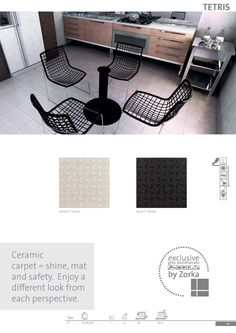 Ceramic carpet = shine, mat and safety. Enjoy a different look from each perspective with Tetris Collection. www.zorka-keramika.rs