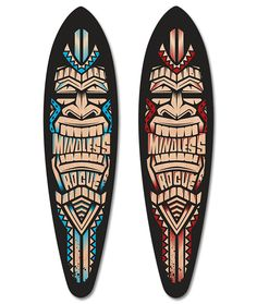 Longboard Cruiser, Rogues, Red Black, Campaign, Deck, Medium, Store, Blue, Products