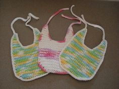 Cotton Bib - free #crochet baby bib pattern, perfect for adding embellishments!