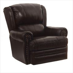Lowest price online on all Catnapper Buckingham Leather Oversized Rocker Recliner in Chocolate - 411026720129229309229 Camo Furniture, Furniture Deals, Catnapper Furniture, Leather Recliner Chair, Dream Bedroom, Home And Family, Recliners, Chocolate, Chairs