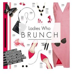 """""""Mother's Day Brunch"""" by happilyjynxed ❤ liked on Polyvore featuring Altuzarra, Nine West, Laura Mercier, Gucci, Linda Farrow, Humble Chic, Lana Jewelry, brunchstyle, MothersDayBrunch and ladieswhobrunch"""