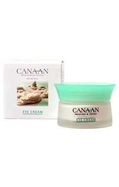 Canaan Minerals and Herbs Dead Sea Eye Cream 1.02 oz by Minerals from the Dead Sea. $17.10. Eye Cream helps moisturize. Minerals & Herbs from the Dead Sea. The skin around your eyes will tingle with evergy and newfound vitality. Fortified with Canaan's CSE ComplexTM and formulated specially for the delicate eye area, is absorbed quickly and offers both natural moisturizers and anti-wrinkle properties. The delicate skin around your eyes will feel energized and vital.  Dab gent...