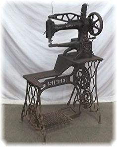Singer 29-4 Patcher Cobbler Leather Sewing Machine Industrial Vintage Shoe Base! | eBay