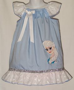 Disney Queen ELSA Custom Ruffle Dress / FROZEN by KarriesBoutique, $39.95 @Kaci Hoskins