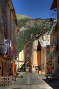 Tiny Village of Jausiers, Provence-Alpes-Côte d'Azur, France