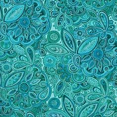 teal quilting fabric   Inspiration Paisley by Blank Quilting M5660 Teal