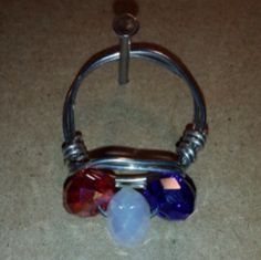 Red, White, and Blue Ring on Etsy, $15.00