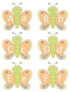 Free Alphabet Butterflies