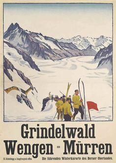 Grindelwald - Wengen - Mürren - (Emil Cardinaux) -