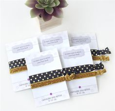 Bachelorette Hair Ties - 15 Bridal Shower Game Prizes Your Girls Will Love - EverAfterGuide