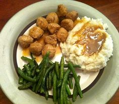 Medifast Turkey and Meatballs with Green Beans and Mashed Cauliflower - Yummy Lean and Green meal for @Medifast