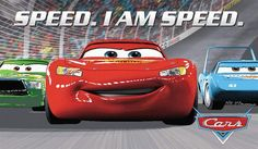 Front view of lightning McQueen Walt Disney Cartoons, Walt Disney Co, Disney Cars Movie, Disney Pixar, Disney Characters, Cars 2006, Kids Area Rugs, Cars Series, Rare Pictures