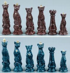 Cat themed chess pieces :)