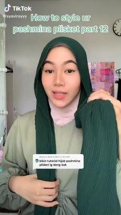 Ootd Hijab, Hijab Chic, Girl Hijab, Hijab Outfit, Simple Hijab Tutorial, Hijab Style Tutorial, Pashmina Hijab Tutorial, Kebaya Hijab, Stylish Hijab