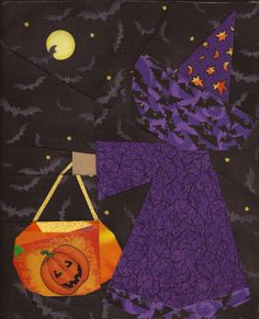 Trick or Treat Sue by jewelri.  Block pattern by Jennifer Ofenstein | Sew Hooked.