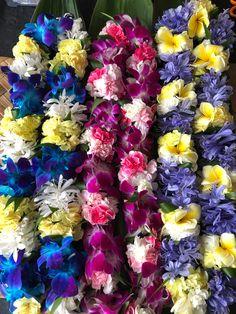 Hawaiian Leis, Hawaiian Islands, Tahiti, Garlands, Fresh Flowers, Flower Designs, Flower Arrangements, Colours, Ideas