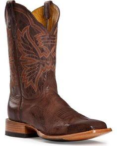 Cinch Classic Mad Dog Goatskin Cowboy Boots - Square Toe