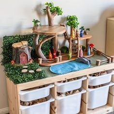 DIY Tree House for Small World Play - Little Lifelong Learners - DIY Tree House for Small World Play – Little Lifelong Learners DIY Tree House for Small World Play – Little Lifelong Learners Small World Play, Crafts For Kids, Diy Crafts, Play Spaces, Learning Spaces, Diy Toys, Toddler Activities, Kids Playing, Wooden Toys