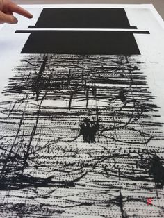 mapping the minus  artprintresidence:  (via Jacqueline Aust   working with carborundum plates) Dry point and carborundum on plastic plate