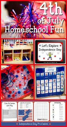 Independence Day Homeschool Fun ~ 4th of July Ideas, Printables and more!