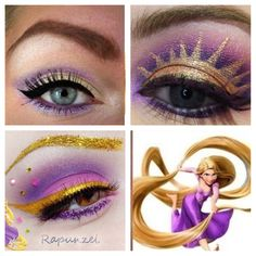 #rapunzel inspired makeup