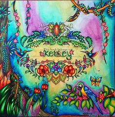 Magical Jungle Coloring Book By Johanna Basford Colored Kelsey Everett