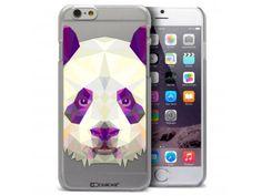 Coque Crystal iPhone 6 Extra Fine Polygon Animals - Panda