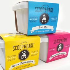 Ashley's Scoop & Bake Cookie Dough  -  design & dreative direction by Riley Hutchens of Riley Designs