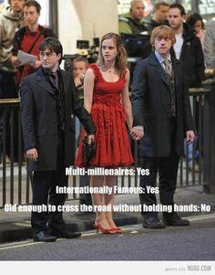 Too Young, No way. (harry potter,funny,ron weasley,hermione granger,best friends,movie,books,jk rowling,emma watson,daniel radcliffe)