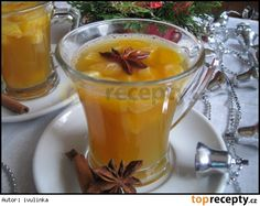 Vánoční čaj Tea Recipes, Cooking Recipes, Beverages, Drinks, Smoothies, Food And Drink, Pudding, Yummy Food, Sweets
