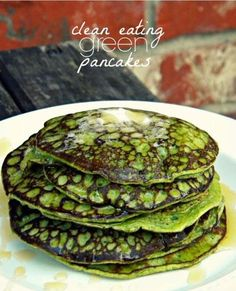 Green Pancakes    **I have made this recipe a few times...it is a GREAT change of pace. I stole these directions from Kate Michele to make i...