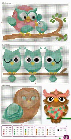 kallana-ponto-cruz-cross-stitch-coruja-10.jpg 812×1,575 pixels