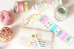 Washi tape bookmarks.