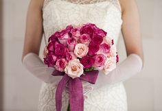 Hot pink Rose hand tied Bouquet by Tirtha Bridal Uluwatu Bali