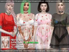 The Sims 4 Ruffle Sheer ft. The Sims 4 Pc, Sims 4 Teen, Sims 4 Mm, My Sims, Rose Clothing, Sims 4 Clothing, Female Clothing, Maxis, Sims4 Clothes