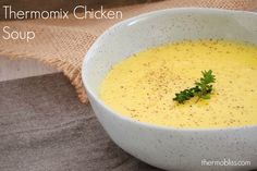 Nothing beats this Thermomix Chicken Soup - it's hearty, creamy and packed full of vegetables.It really is the perfect family winter warmer dinner.